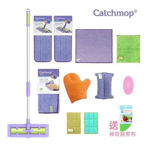 Catchmop - 韓國神奇抹布 豪華組合 │ 專利新概念倒勾抹布
