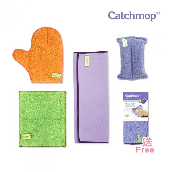 Catchmop - 韓國神奇抹布 好評推薦組 (韓國製造) │ 專利倒勾抹布
