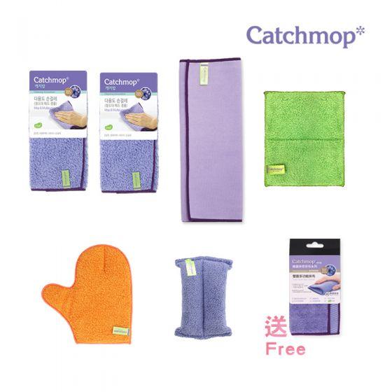 Catchmop - 韓國神奇抹布 家居清潔組合 │ 專利新概念倒勾抹布