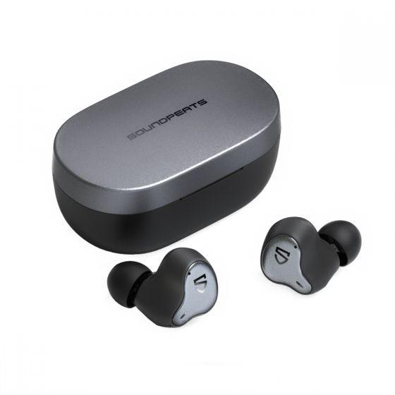 Soundpeats - TruEngine H1 全新混合圈鐵雙單元真無線藍牙耳機  (黑色) Soundpeats_H1