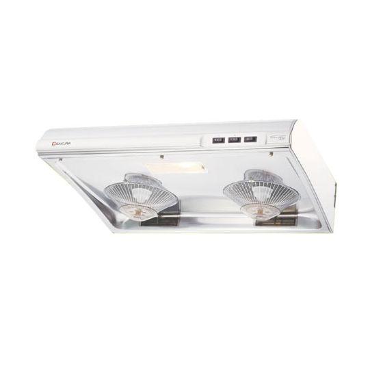 SAKURA - 櫻花牌 - 70厘米 油網式免拆洗 抽油煙機 (不鏽鋼 / 白色焗漆) SR-3883S