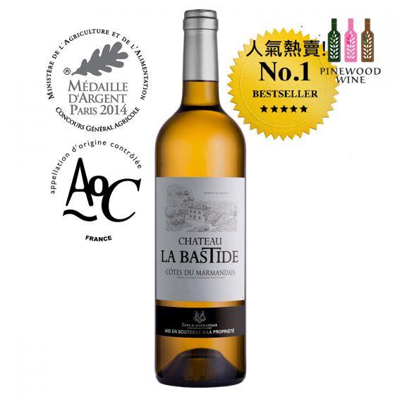 Chateau La Bastide - Blanc, AOC Côtes du Marmandais 2018白酒