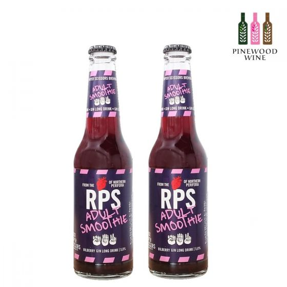 Rock Paper Scissors - 芬蘭藍莓氈酒特飲 Adult Smoothie (alc. 5%) 330ml x 2 支  (此日期前最佳: 2 Apr 2021)