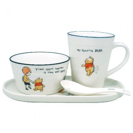 Disney - Pooh 4P Ceramic Tableware Set WC12476