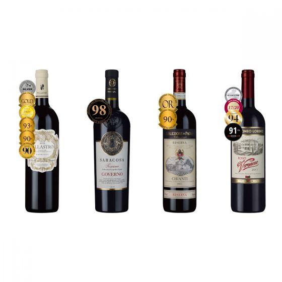 樂事會 - 深度品味得獎意大利紅酒套裝 750ml x 4 支 X0309713