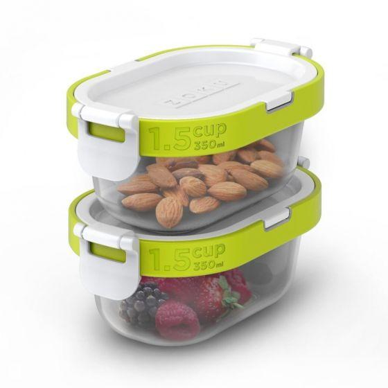 ZOKU - Neat Stack 可嵌式食物盒飯盒套裝 (4件裝) - 微波爐可用