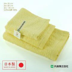 Imabari Zero Twist SUPIMA Cotton Towel (Yellow) 00700SUIMA-YELLOW