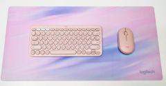 LOGITECH - 粉色藍芽鍵盤滑鼠套裝