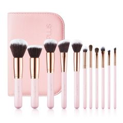 SIXPLUS 11Pcs Pink Makeup Brush Set 102113