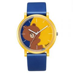 LINE FRIENDS 成人八達通手錶 - Brown Blue Strap 142.7505