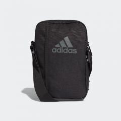 adidas PERFORMANCE中型三間斜揹袋 - Black/Vista Grey