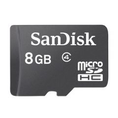 159-18-MSD08A-C SanDisk Flash MicroSD Class 4 Memory Card (SDSDQM-B35)