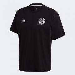adidas -  Captsuba 足球小將 T恤黑色/白色