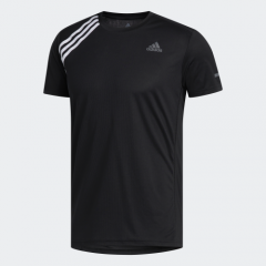 adidas Men Badge Of Sports Own The Run Tee T-Shirt (Short Sleeve) Black