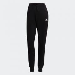 adidas Women Essentials 衛衣布標誌長褲 - 黑色