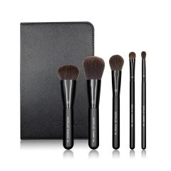 SIXPLUS 5Pcs Black Makeup Brush Set 190006