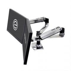 Ergotron LX 桌面顯示器支臂 | 雙配置並列型 拋光鋁 (45-245-026)