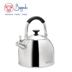Buffalo - Elegance Advancestainless steel 3.8L Whistling Kettle W/Silicone Handle(027006) 27006