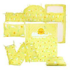 PiYO PiYO 黃色小鴨 - 安睡彩繪海洋純棉抗敏七件被套裝 32430