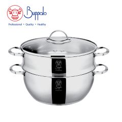 Buffalo - PRO COOK Stainless Steel Functional Pot with Glass lid (34328S) 34328S