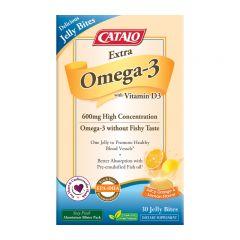 CATALO 特強奥米加3+維他命D3營養啫喱 30粒 CATALO3433