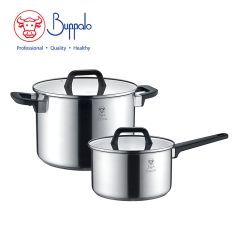 Buffalo - PRO TWINSCOOK Stainless Steel Cookware Set 4 pcs (34524HP1) 34524HP1