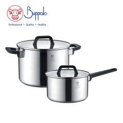 Buffalo - PRO TWINSCOOK Stainless Steel Cookware Set 4 pcs (34524HP1) 34524HP1