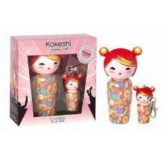 Kokeshi by JS EDT Set - 50ml + 5ml Mini Keyring Litchee 3760048936460