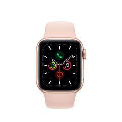 APPLE WATCH SERIES 5 (GPS + 流 動 網 絡) 金色鋁金屬錶殼配淺粉紅色運動手環 AWS5-GD-AL-PS-BD