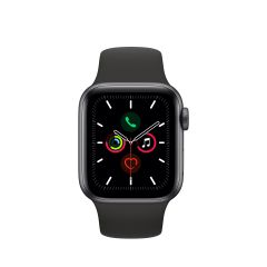 APPLE WATCH SERIES 5 (GPS + 流 動 網 絡) 太 空 灰鋁金屬錶殼配黑色運動手環 AWS5-SPGY-AL-BL-BD