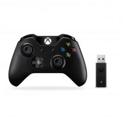 XBOX CONTROLLER AND WIRELESS ADAPTER FOR WINDOWS (BLACK) 4122091