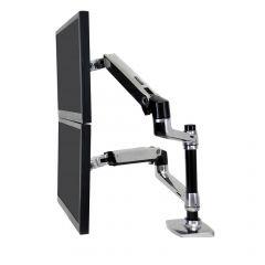 Ergotron LX 桌面雙顯示器支架(通用夾桌式和穿孔式) (45-248-026)