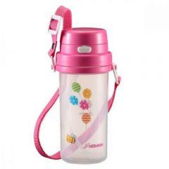 KIDS&MAMA - 2 Way 兒童用高身吸管水杯 370ml (粉色)