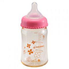 KIDS&MAMA - PPSU寬口奶瓶 160ml (粉色)