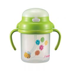 KIDS&MAMA - Baby Straw Cup 270ml - Green 4573336180457