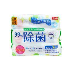 情熱價格 - 消毒濕紙巾3包裝 (無酒精) (平行進口貨品) 4589506152360