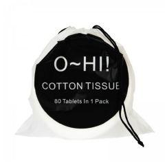 OHI - 超柔軟即棄純棉洗面巾( 80片 一包)