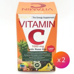 Exlife - vitamin C 1000mg wift rose hip 60 Tablets 4897000466983