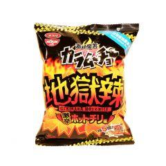 日清 - 湖池屋激辣魔薯地獄辣味薯片 55克 (1件 / 3件)