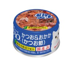 CIAO -  SKIPJACK WHITE MEAT WITH BONITO FLAKES (6 CANS / 24 CANS) 4901133061233