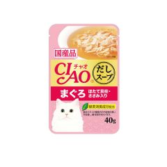 CIAO -  SOUP TUNA WITH SCALLOP & CHICKEN FILLET (4 PACKS / 16 PACKS) 4901133618604