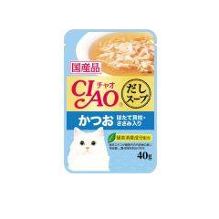 CIAO -  SOUP SKIPJACK WITH SCALLOP WITH CHICKEN FILLET (4 PACKS / 16 PACKS) 4901133618611