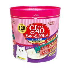 CIAO Chu-ru Type - 吞拿魚海鮮雜錦杯 14g x 120pc SC-211 4901133718779