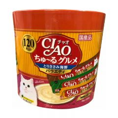 CIAO Chu-ru Type - Chicken and Seafood Assorted 14g x 120pcs SC-213 4901133718793