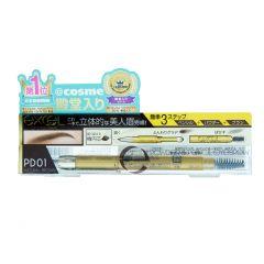 EXCEL - 3合1持久造型眉筆 (自然啡 / 焦糖啡 / 炭啡 / 摩卡啡) EXCEL_ALL
