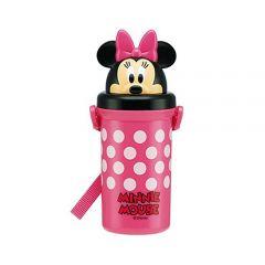 Skater - Minnie Plastic Water Bottle - Pink 4973307268496