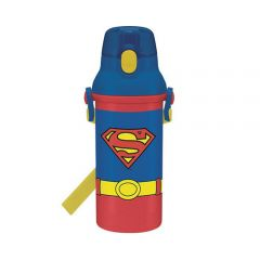 Skater - Superman Water Bottle with Straw - Blue 4973307287152