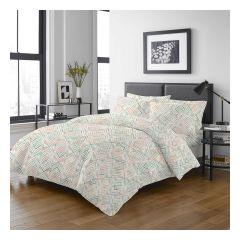 Uji Bedding - 1000 Threads Cotton Pattern Bedding Set [5204](4 Sizes option)52S-5204-MO