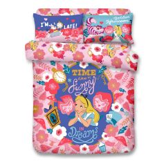 Uji Bedding - 1000 threads Cotton Characters Bedding Set - Alice in Wonderland(4 Sizes option)52S-AL2101-MO