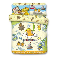 Uji Bedding - 1000 Threads Cotton Characters Bedding Set - Gudetama(4 Sizes option)52S-GU2101-MO
